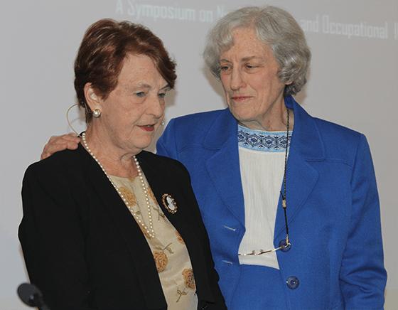Dr. Helen Caldicott and Kay Drey