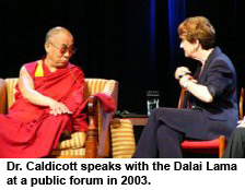 With the Dalai Lama in New York in Sep 2003